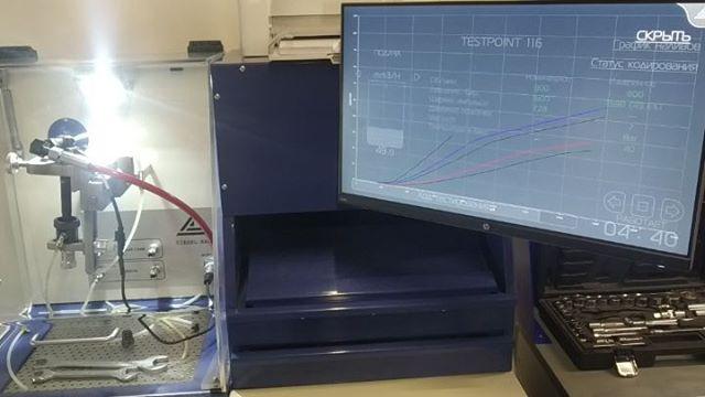 Кодирование форсунок Delphi. Оригинальный алгоритм от Hartridge основан на большом количестве контрольных точек, в связи с чем процесс присвоения кода длится более 30 минут. На видео виден график наливов.